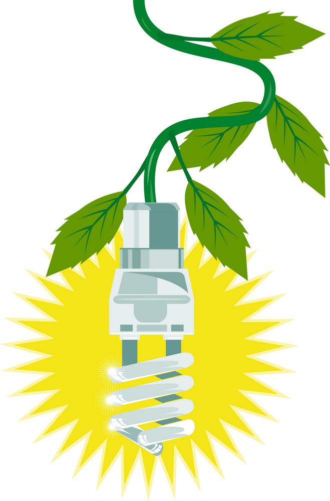 Lightbulb With Leaves