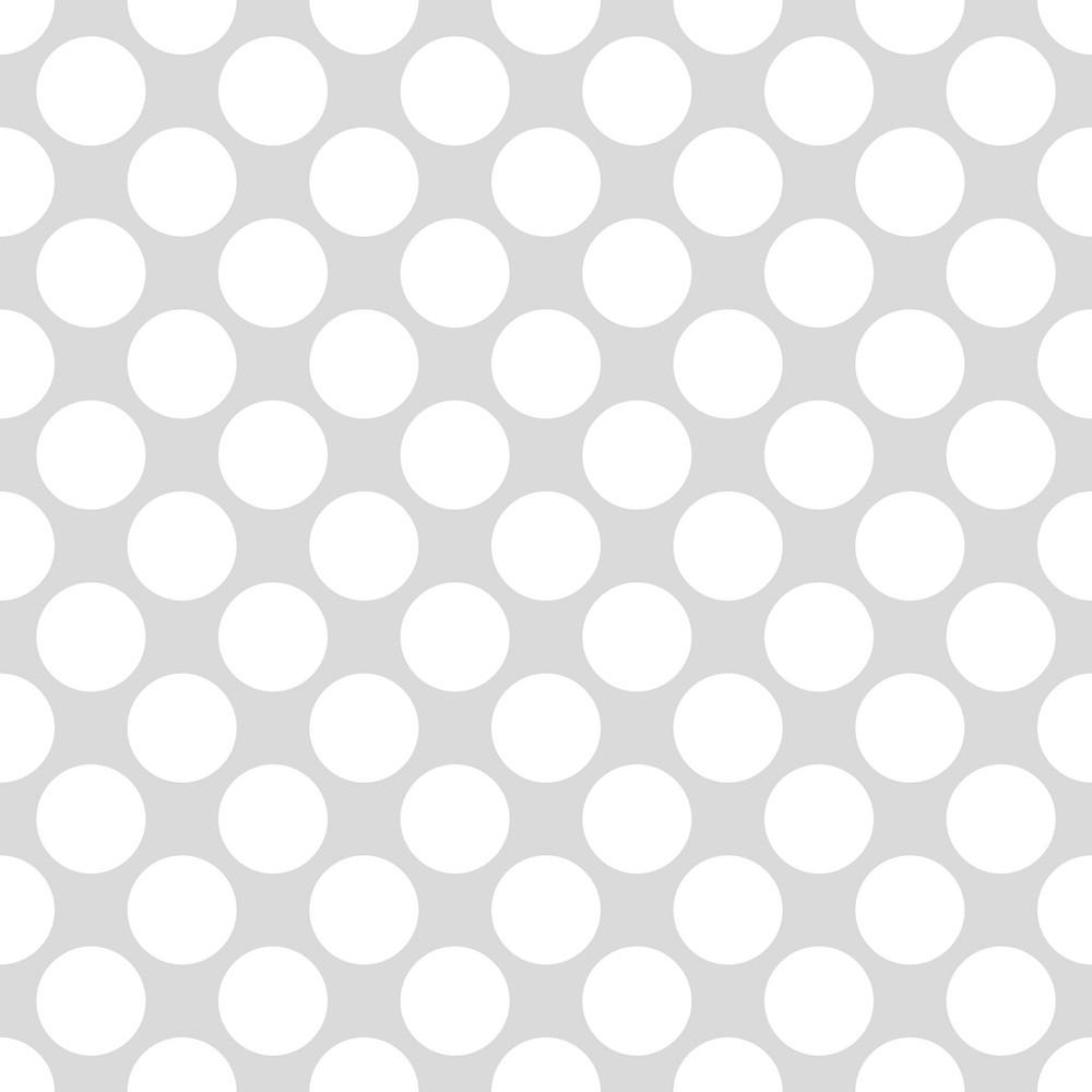 Pattern Of White Polka Dots On A Light Grey Background