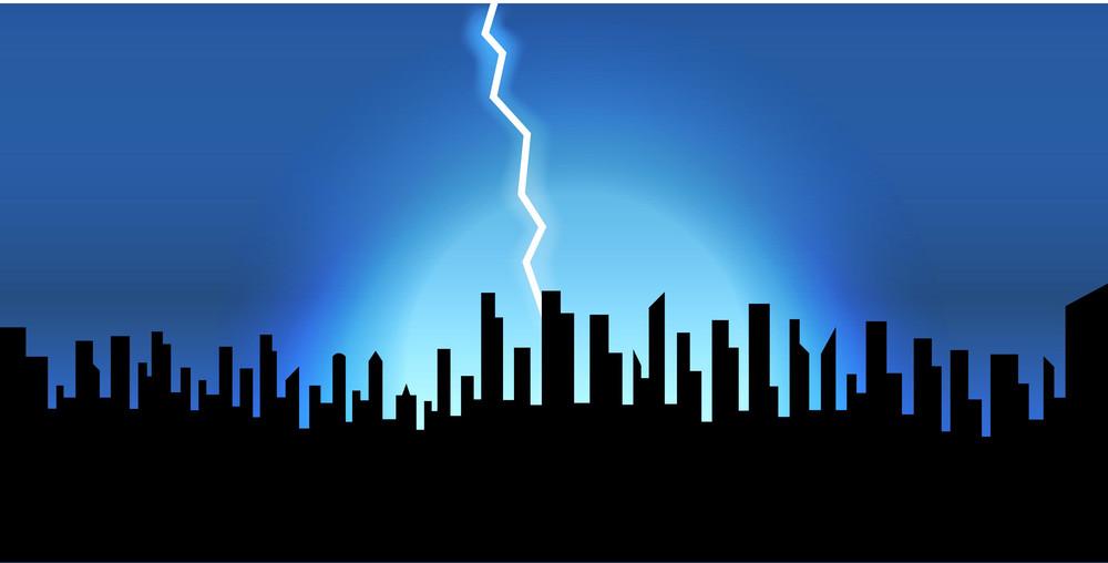 Lightning Over The Skylines