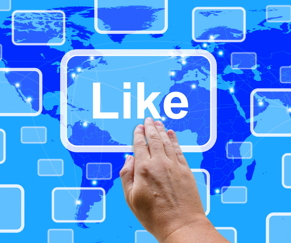 Like Button Showing Approval And Being A Fan