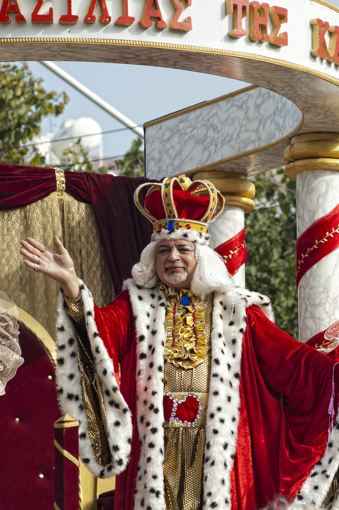 Limassol - February 14: Carnival King At Carnival Parade On February 14