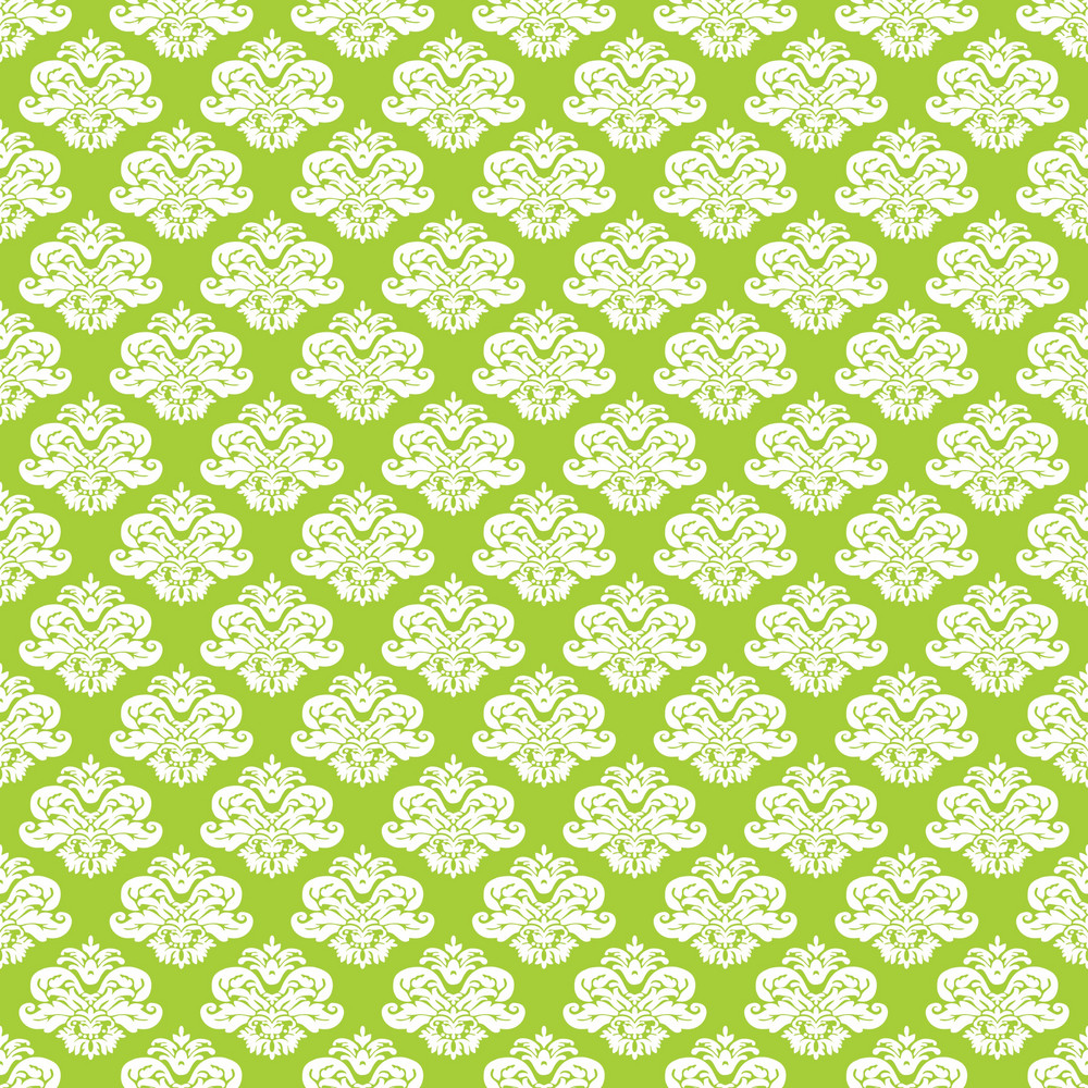 Lime Green And White Decorative Pattern