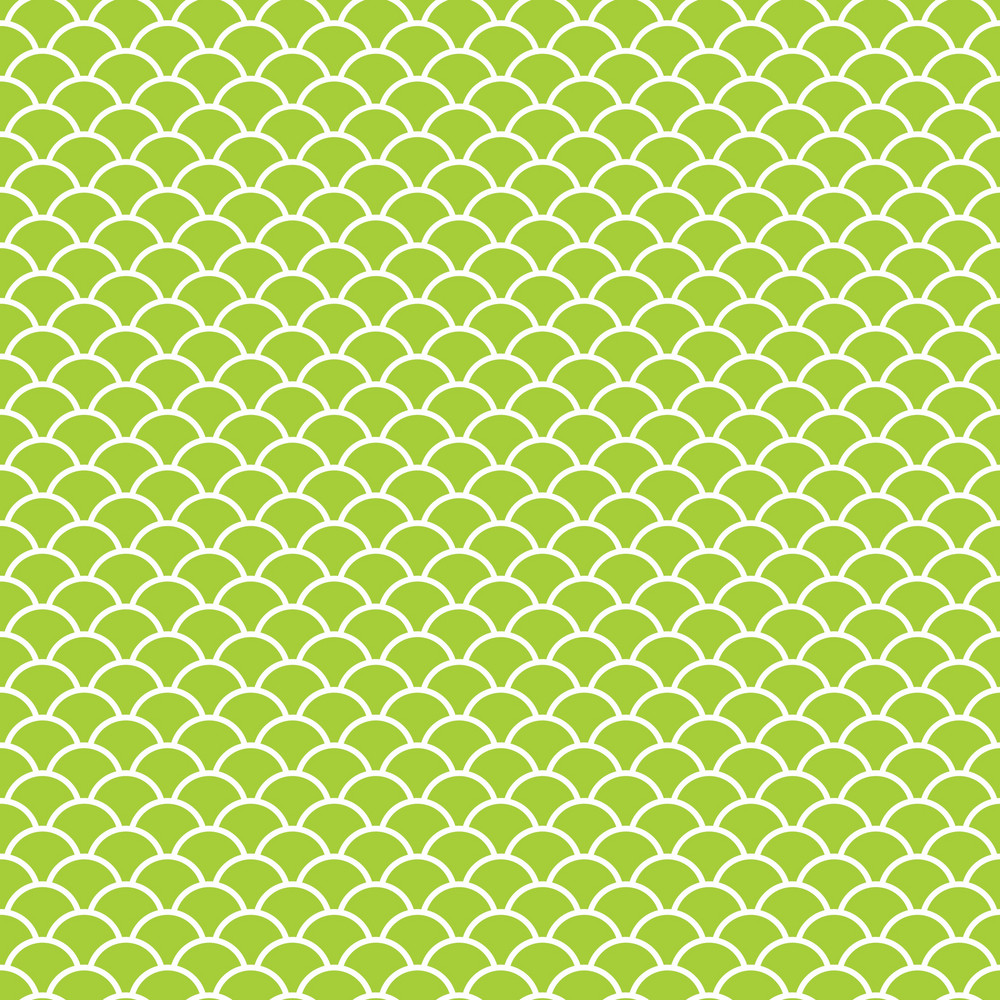Lime Green And White Scales Pattern