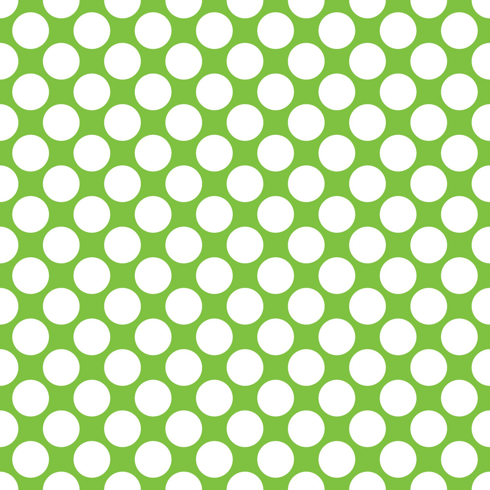 pattern of white polka dots on a lime green background royalty free