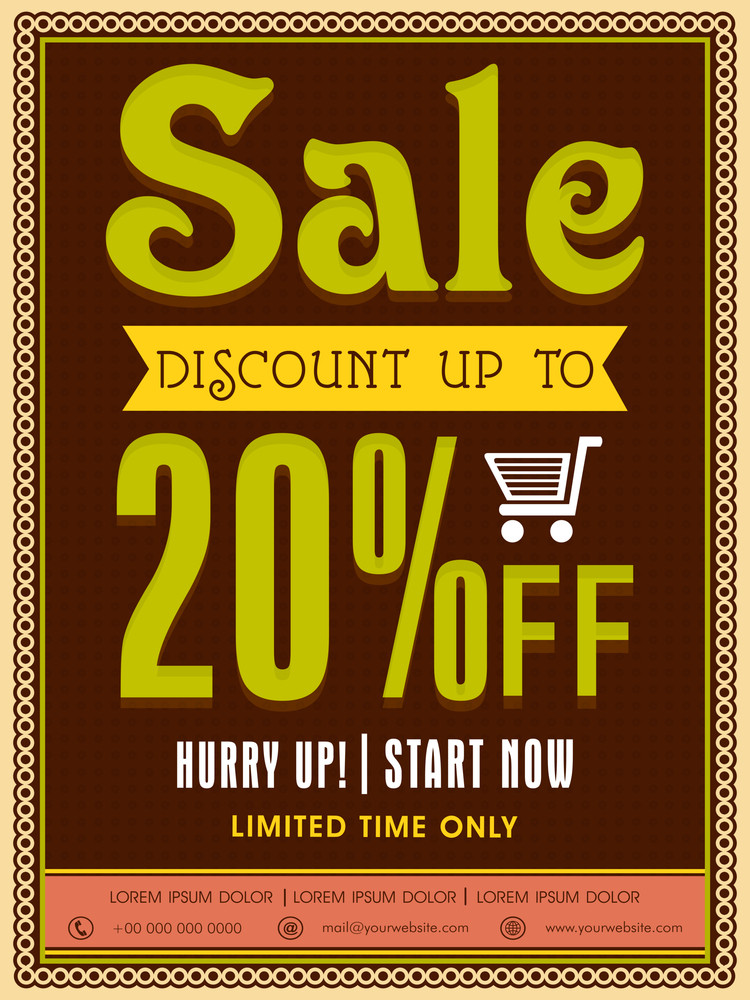 Limited Time Sale poster banner or flyer design with discount offer.