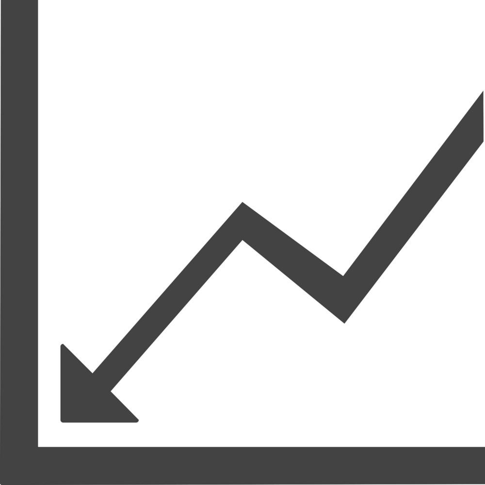 Line Chart 1 Glyph Icon