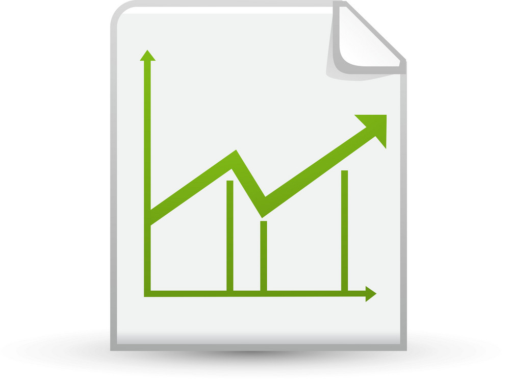 Line Chart On Paper Lite Application Icon