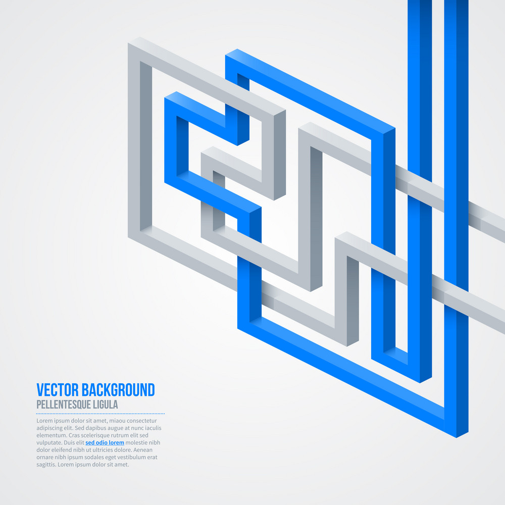 Futuristic Background With Isometric Lines. Eps10.