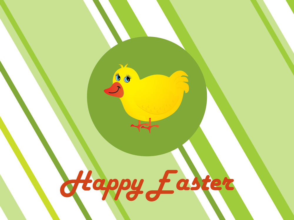 Lines Background With Isolated Cute Duck