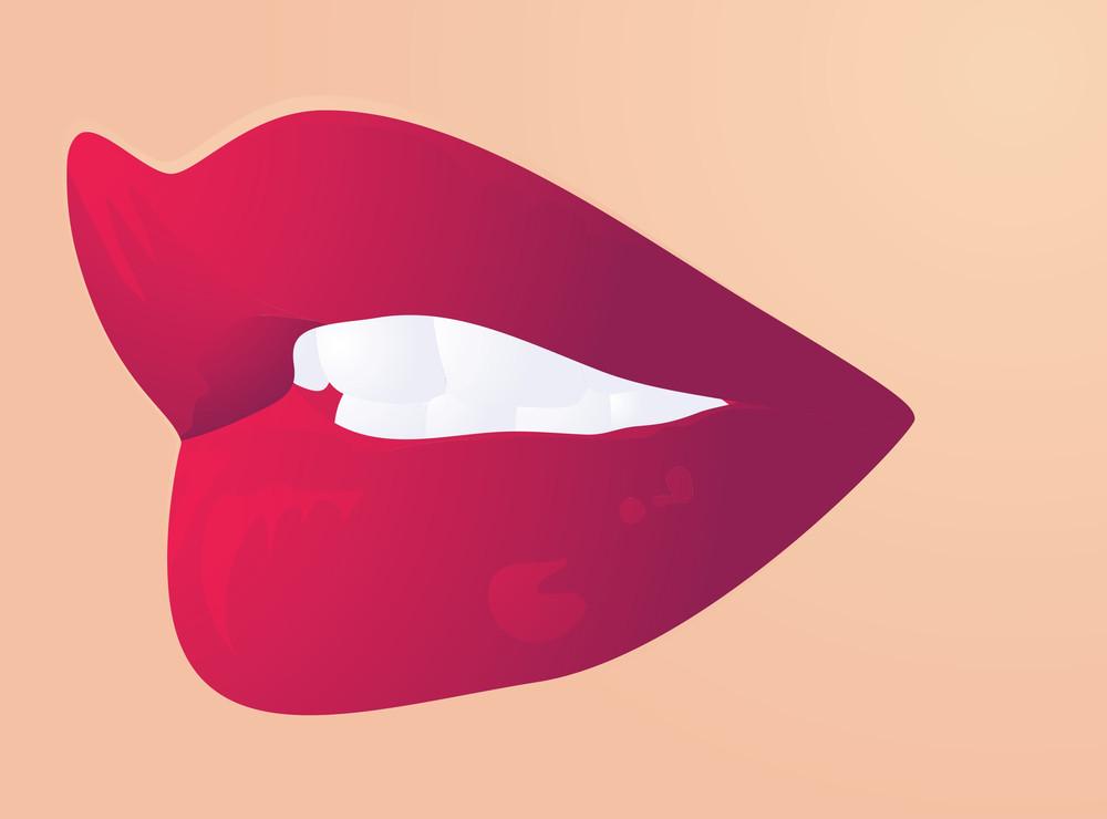 Lips Expression. Conversation