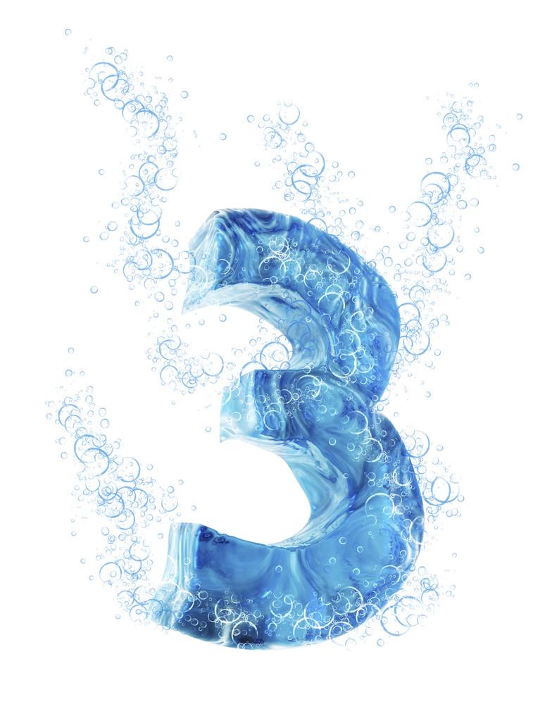 Liquid 3d Number