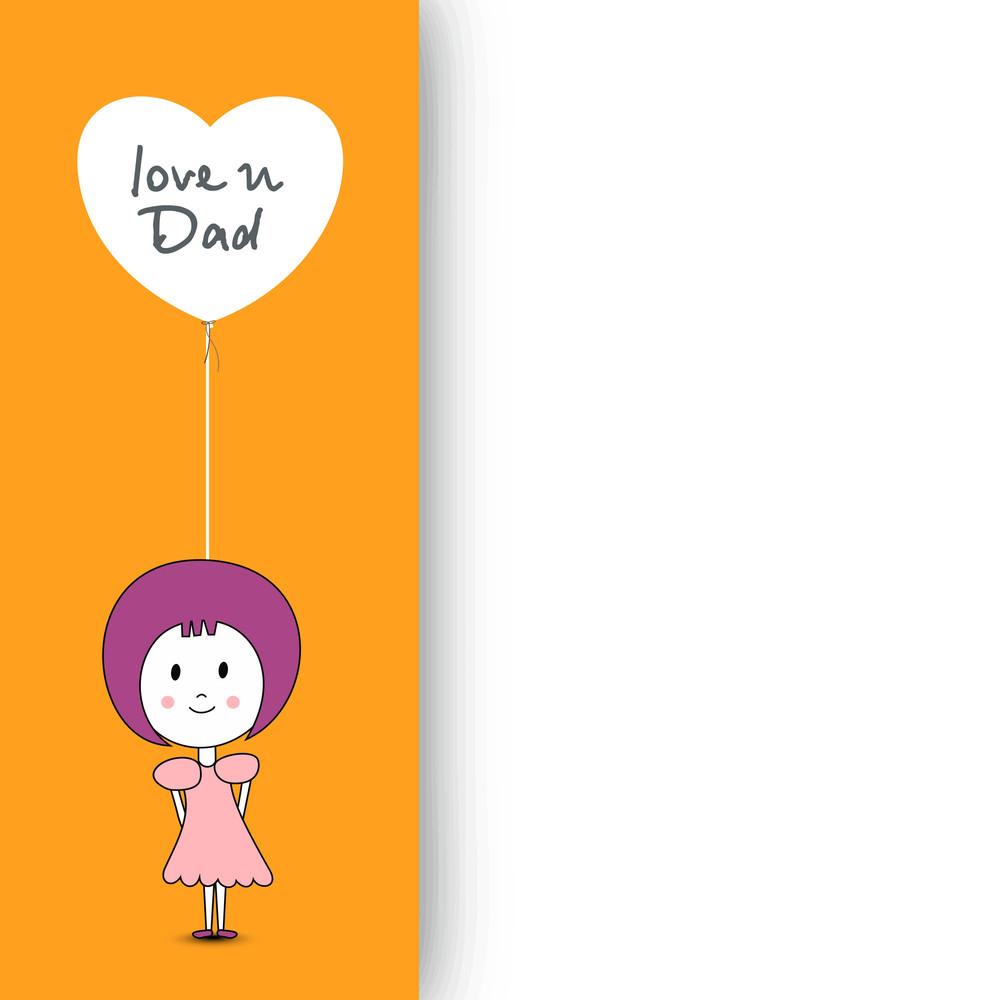 Little Girl Holding A Balloon