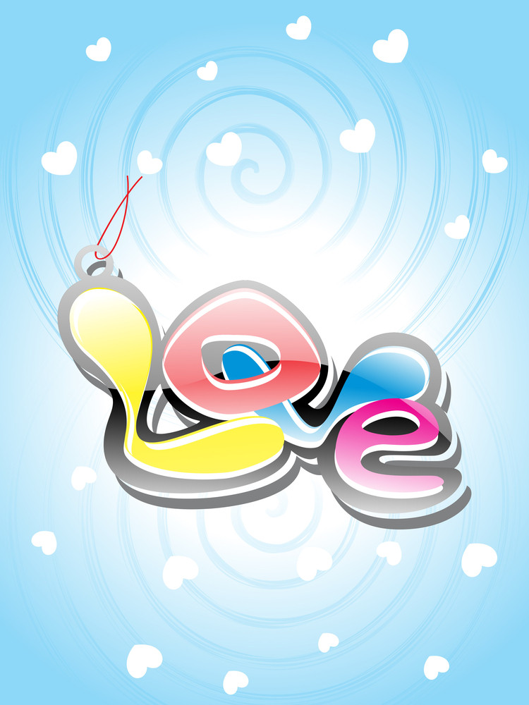Little Heart Background With Colorful Love
