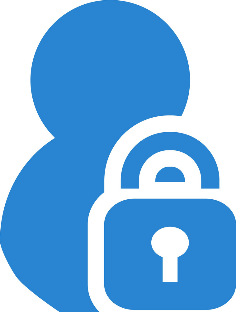 Lock Contact Simplicity Icon