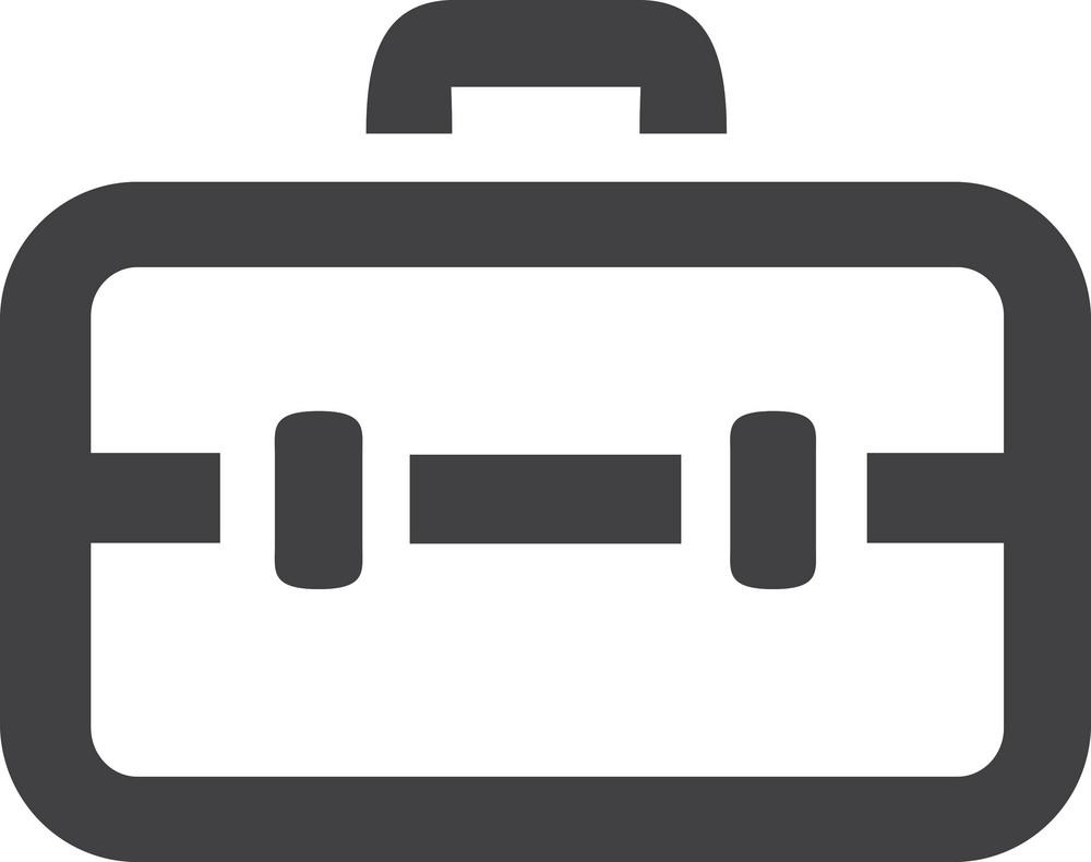 Locked Briefcase Stroke Icon