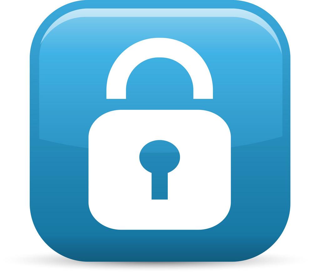 Locked Padlock Elements Glossy Icon