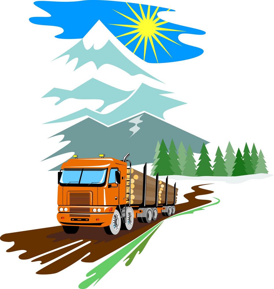 Logging Truck Lorry