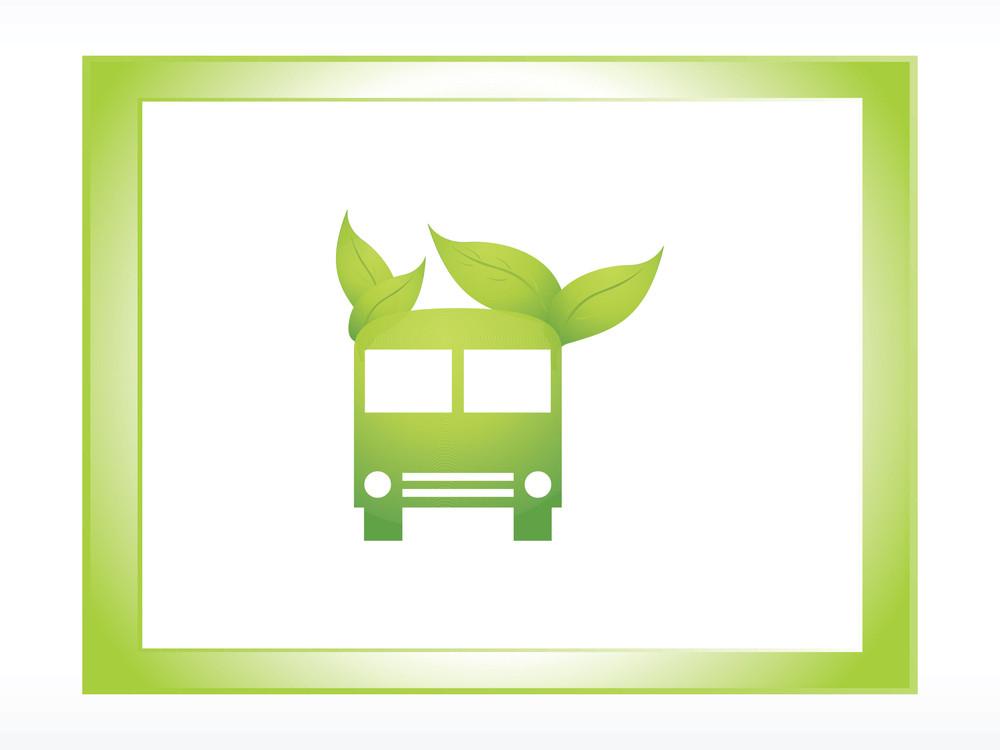 Logo Ecology Green Bus