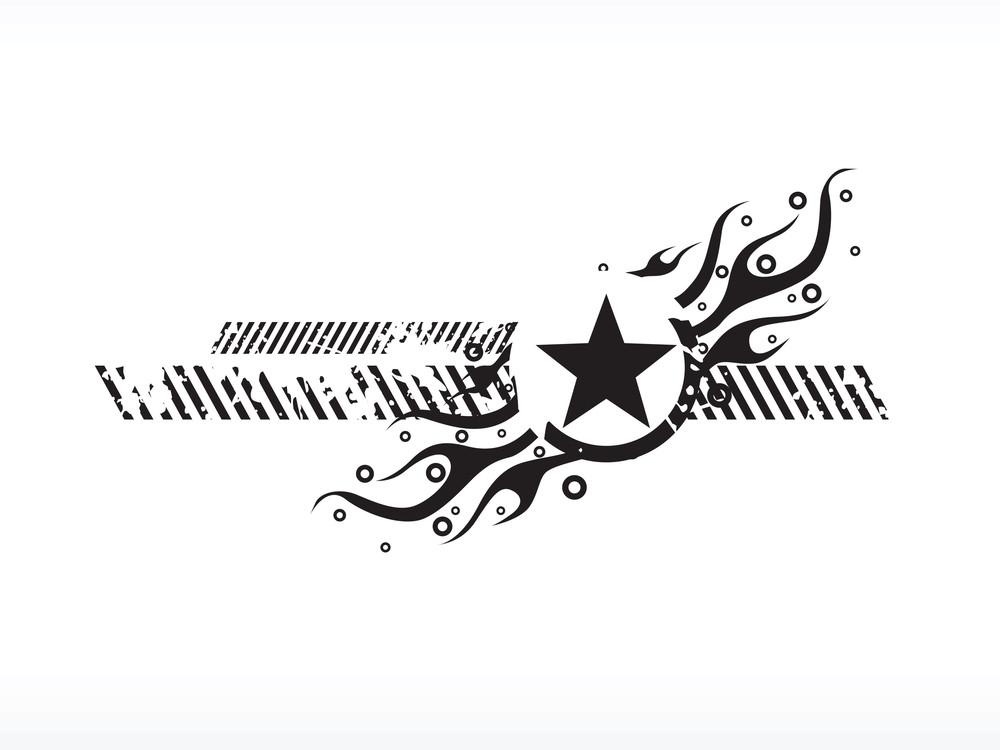 Logo Fire Star Vector Illustration