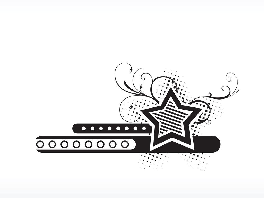 Logo Floral Star Illustration
