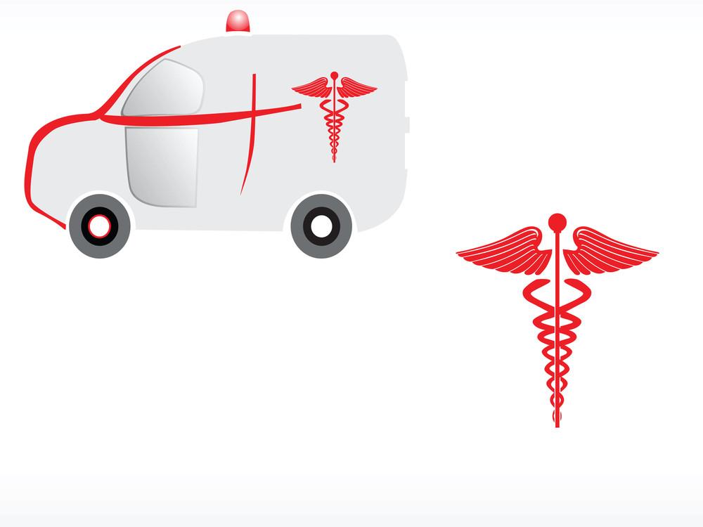 Logo Of Ambulance With Caduceus
