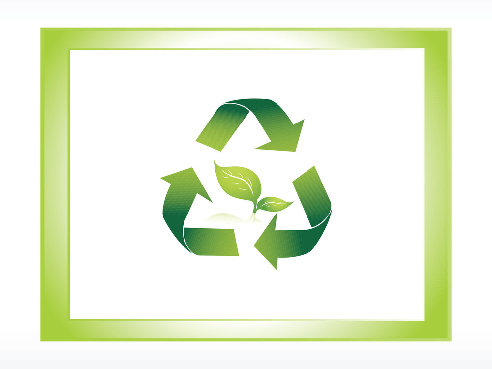 Logo Of Green Recycle In The Frame