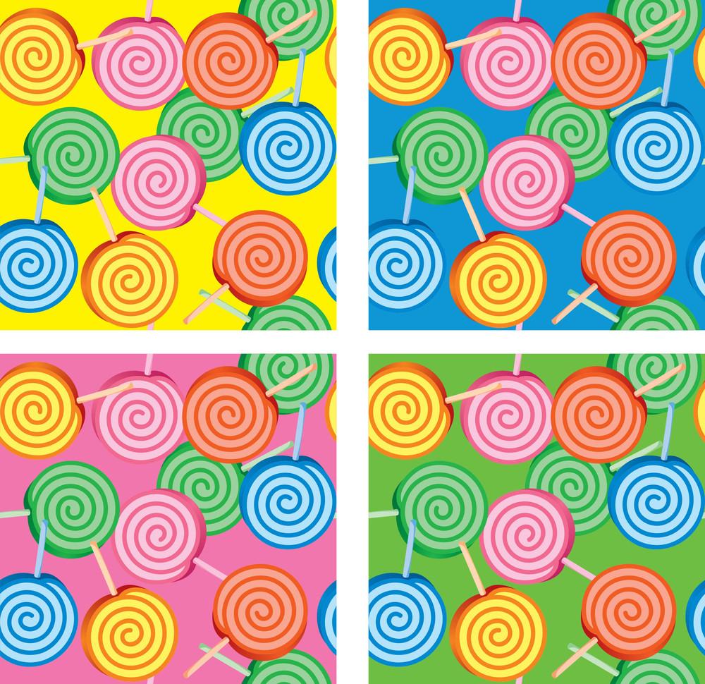 Lollipop Vector Seamless Background
