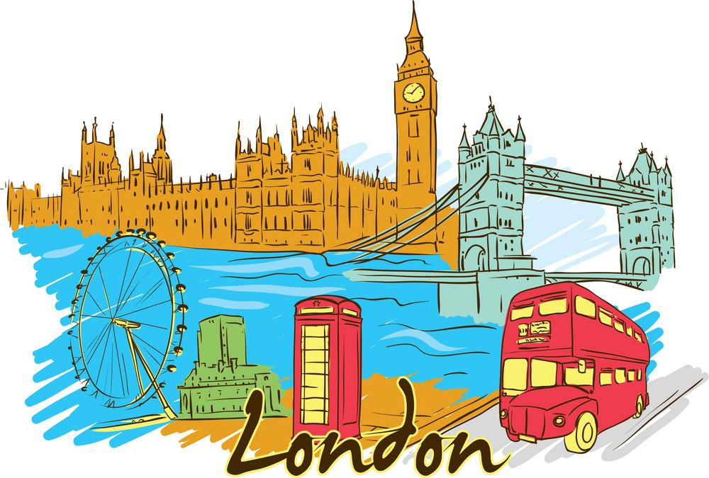 London Vector Doodle