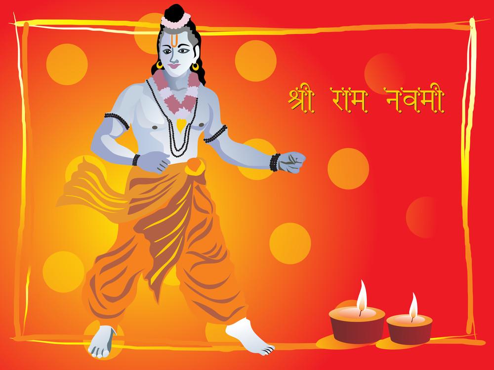 Lord Rama Stand In Pose