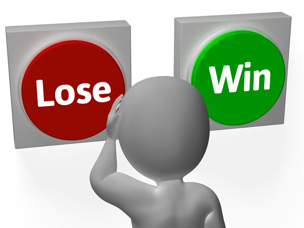 Lose Win Buttons Show Wager Or Loser