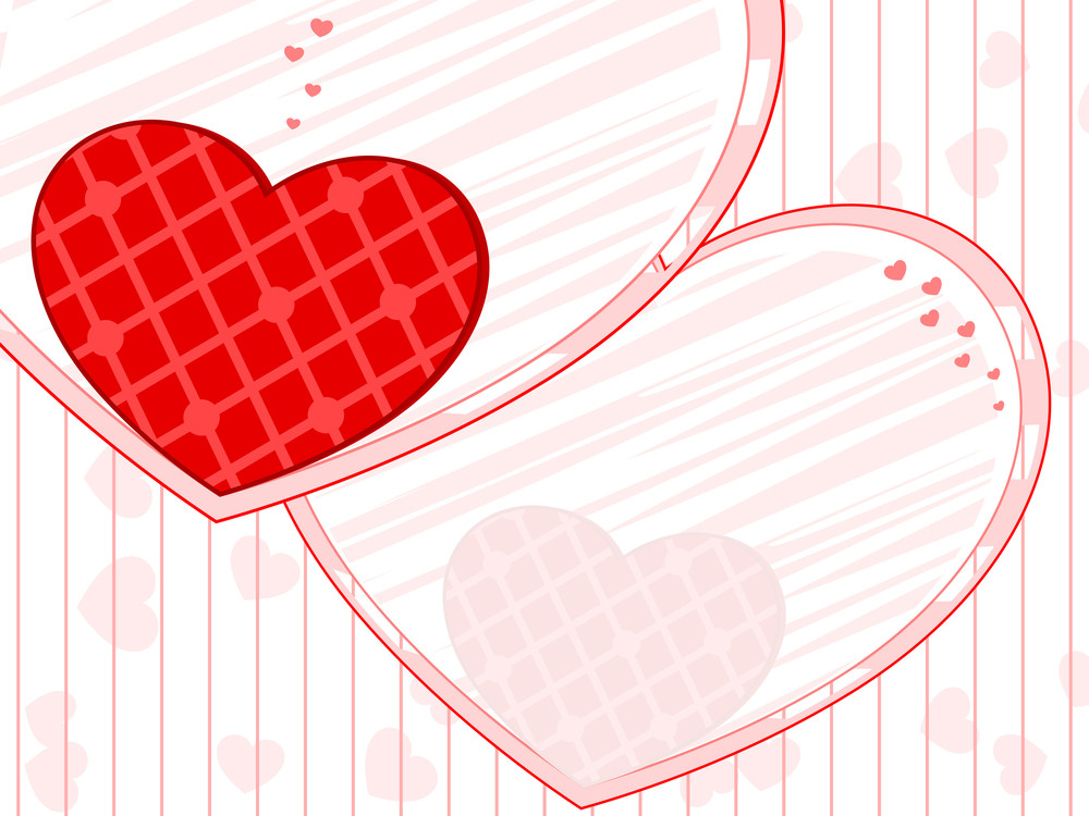 Love Background With Beautiful Heart.vector Illustration.