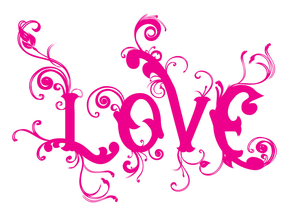 Love background with lovely swirl design royalty free for Love the design