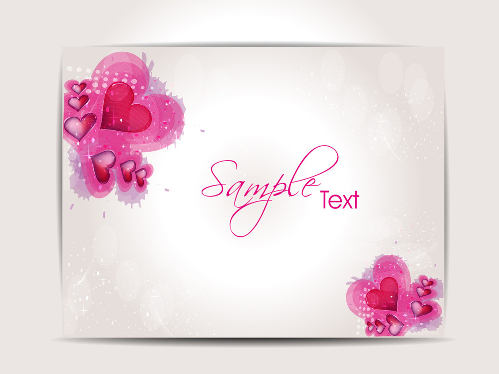 Love Background With Pink Hearts.