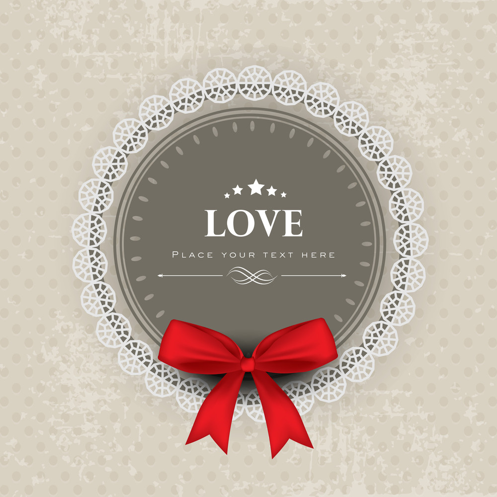 Love Background With Red Ribbon.