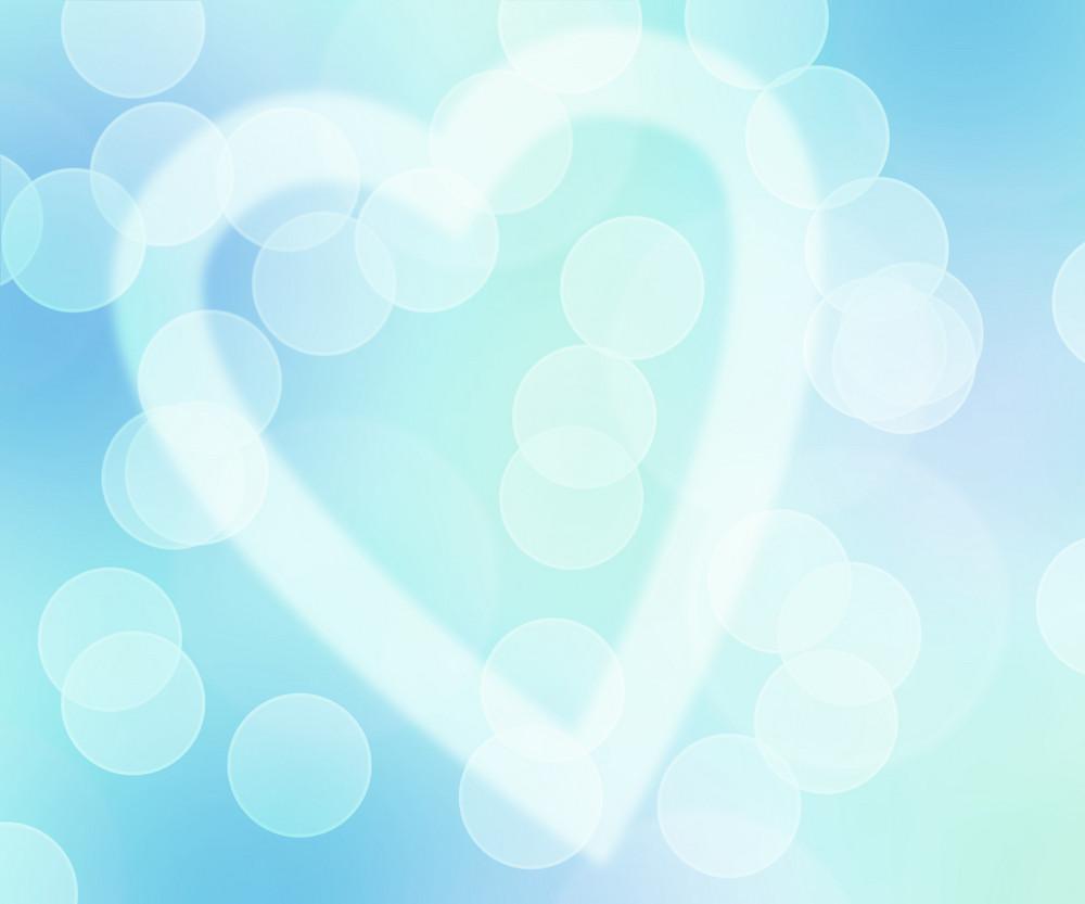 Love Bokeh Blue Background