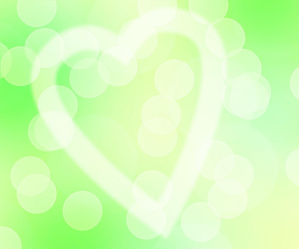Love Bokeh Green Background