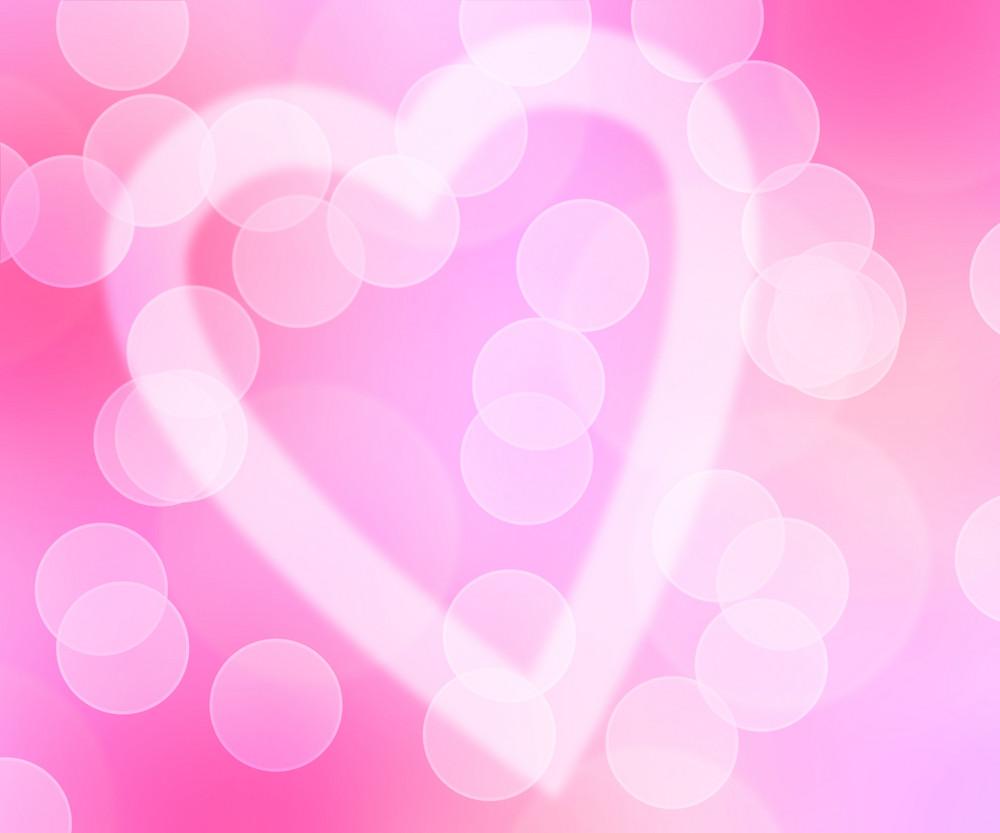 Love Bokeh Pink Background