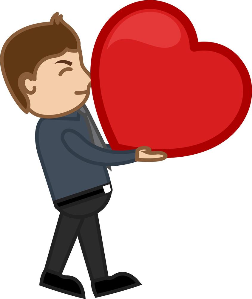 Love Concept - Heavy Heart - Cartoon Character Man