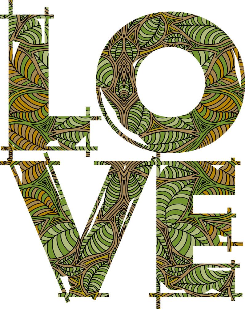 Love Green. Vector Illustration