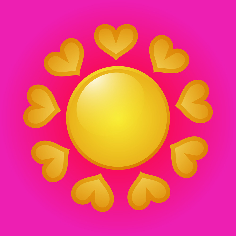 Love Heart Sun Icon