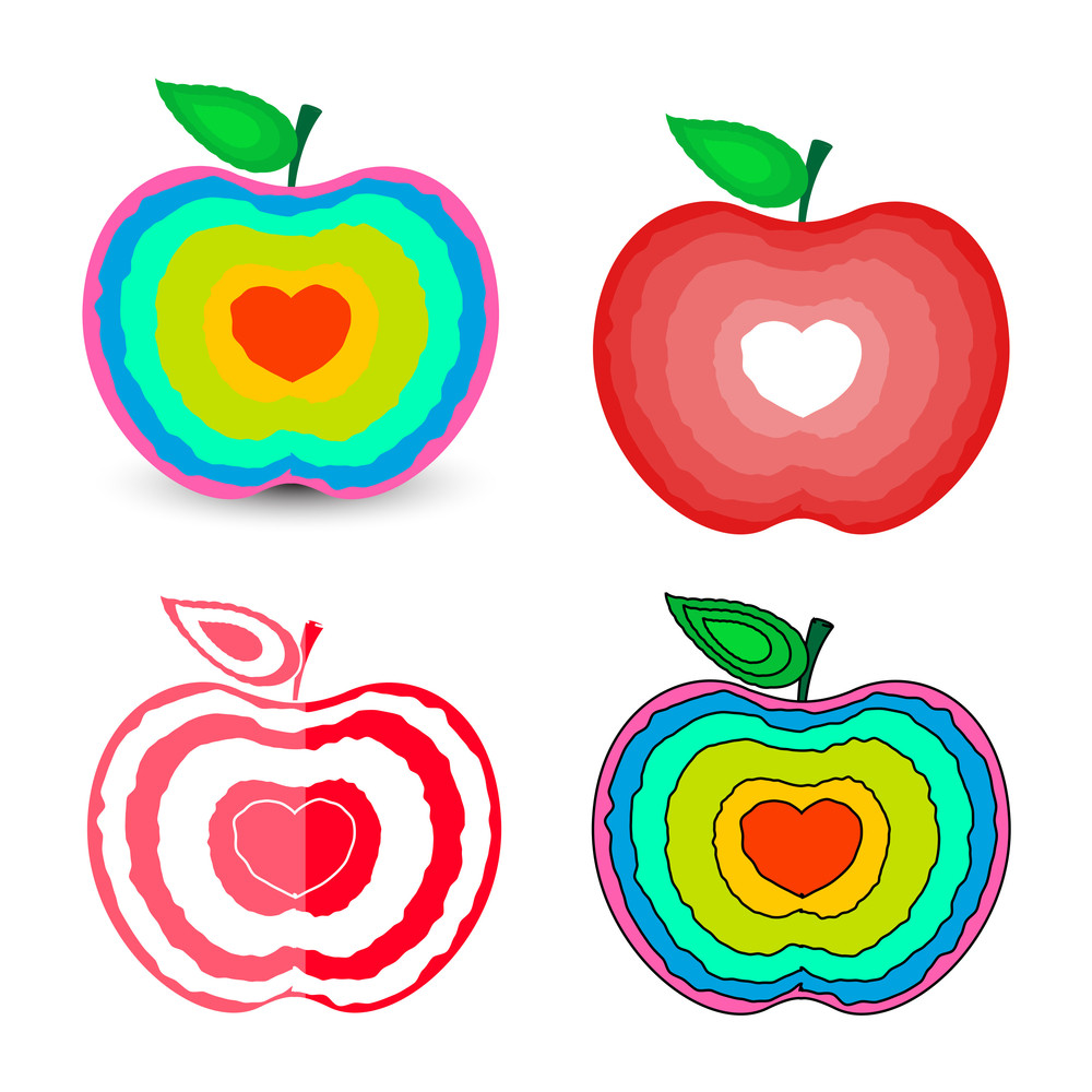 Love Hearts Apples Designs
