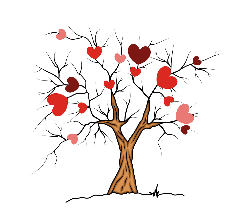 Love Hearts Valentine Tree