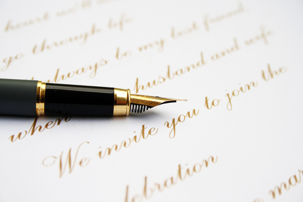 Love Letter And Fountain Pen Royalty-Free Stock Image