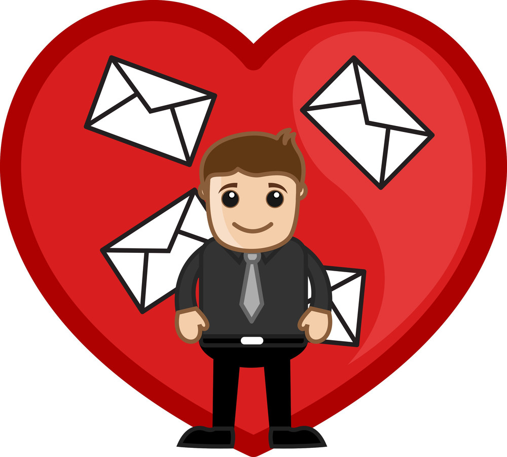 Love Letters Concept Vector