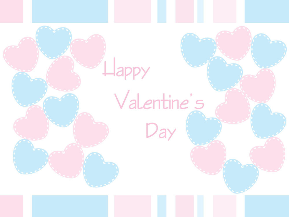 Love Pattern Valentine Cards Abstract