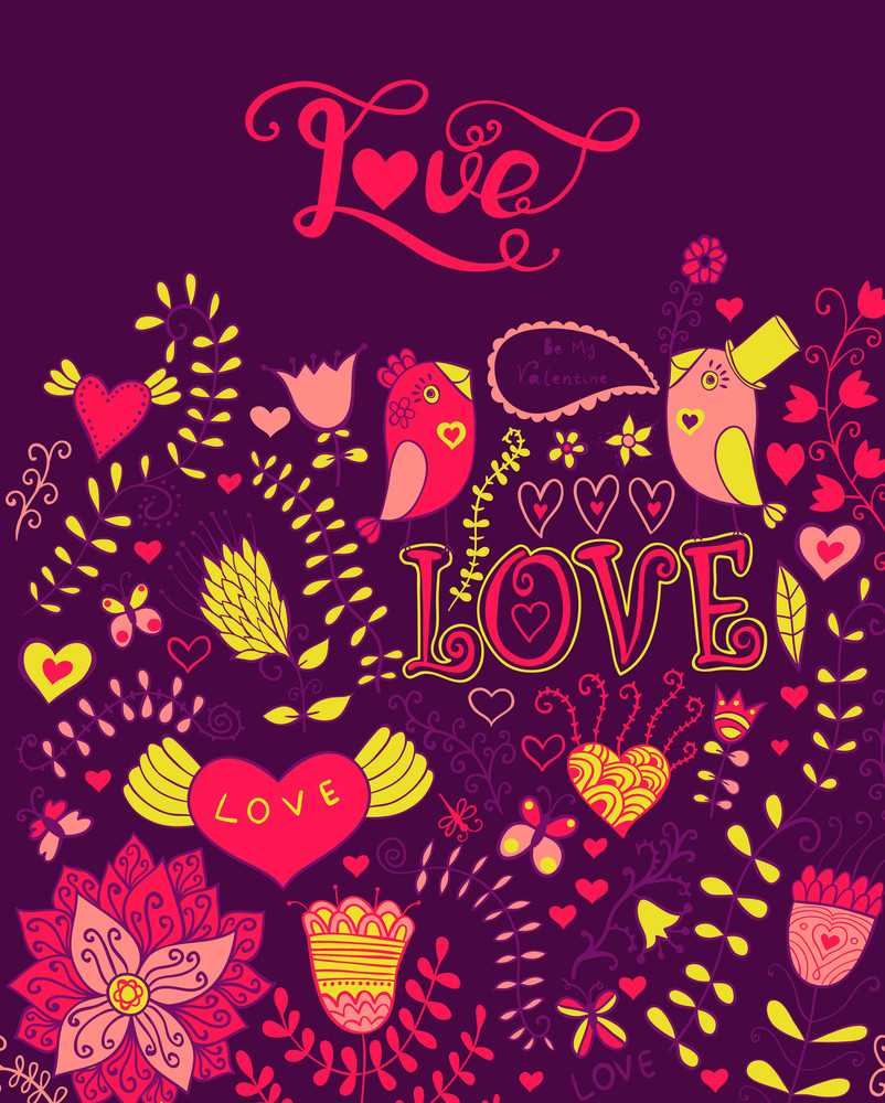 "Love Vector Watercolor Lettering. Watercolor Letters ""love"" Text Doodles"
