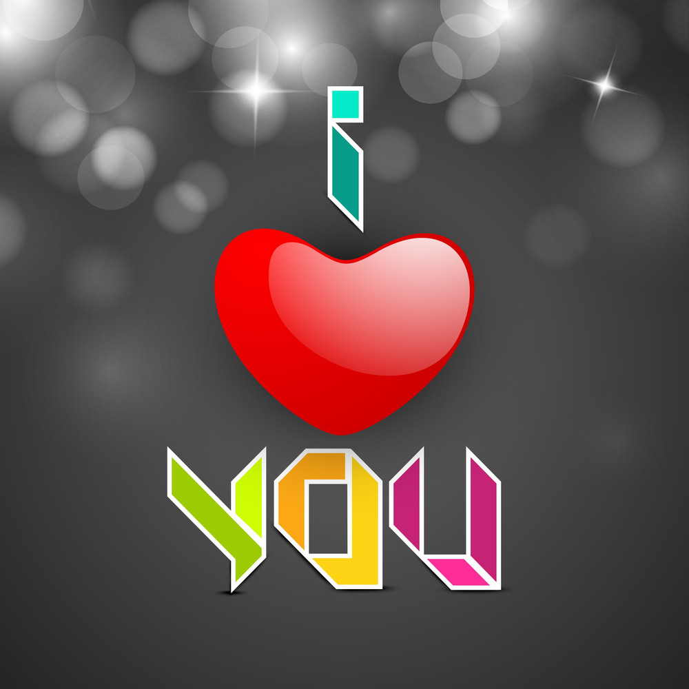 Love     With Text I Love You