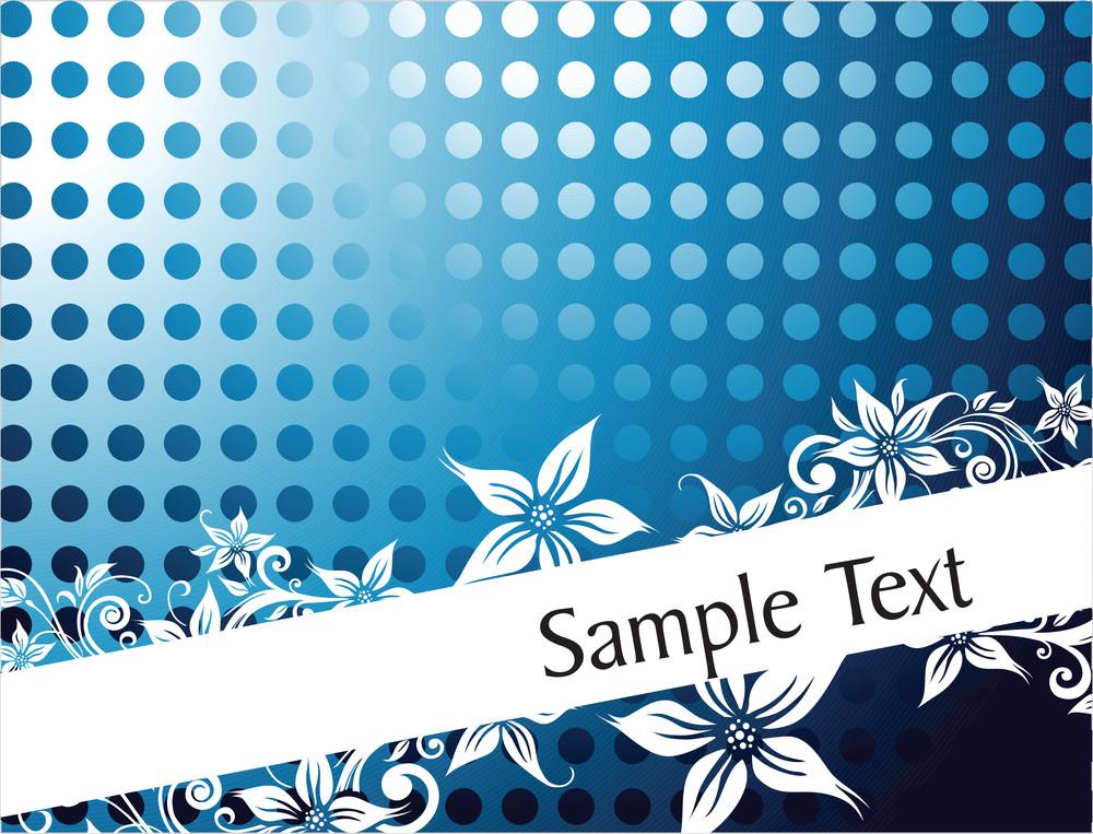 Lovely Flourish Background For Sample Text