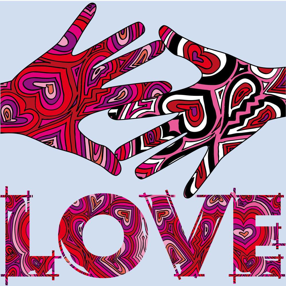 Loving Hands. Vector Illustration