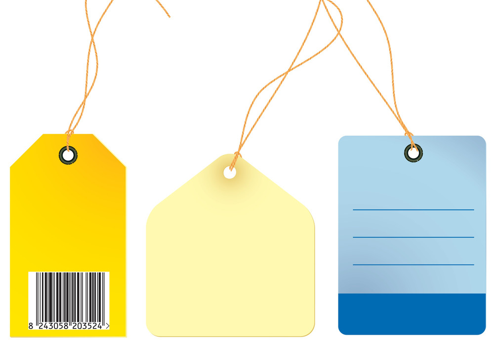 Luggage Vector Tags.